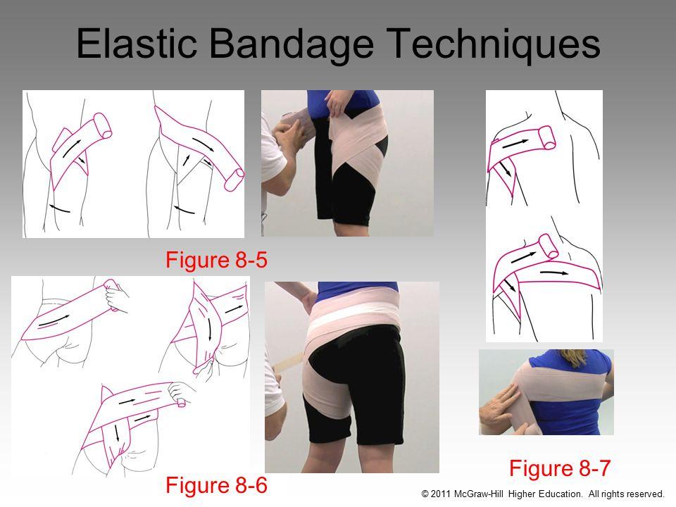 Elastic Bandage Techniques Figure 8-5 Figure 8-6 Figure 8-7 © 2011 McGraw-Hill Higher Education.