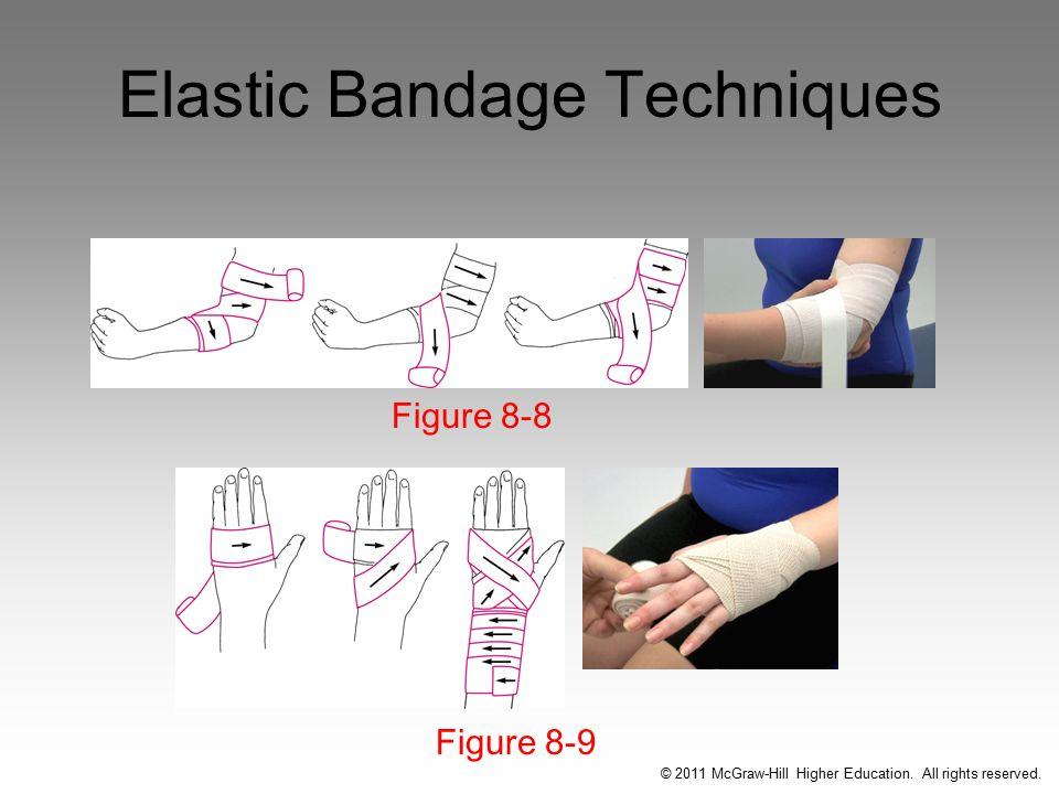 Elastic Bandage Techniques Figure 8-9 Figure 8-8 © 2011 McGraw-Hill Higher Education.