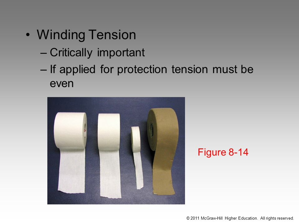 Winding Tension –Critically important –If applied for protection tension must be even Figure 8-14 © 2011 McGraw-Hill Higher Education.