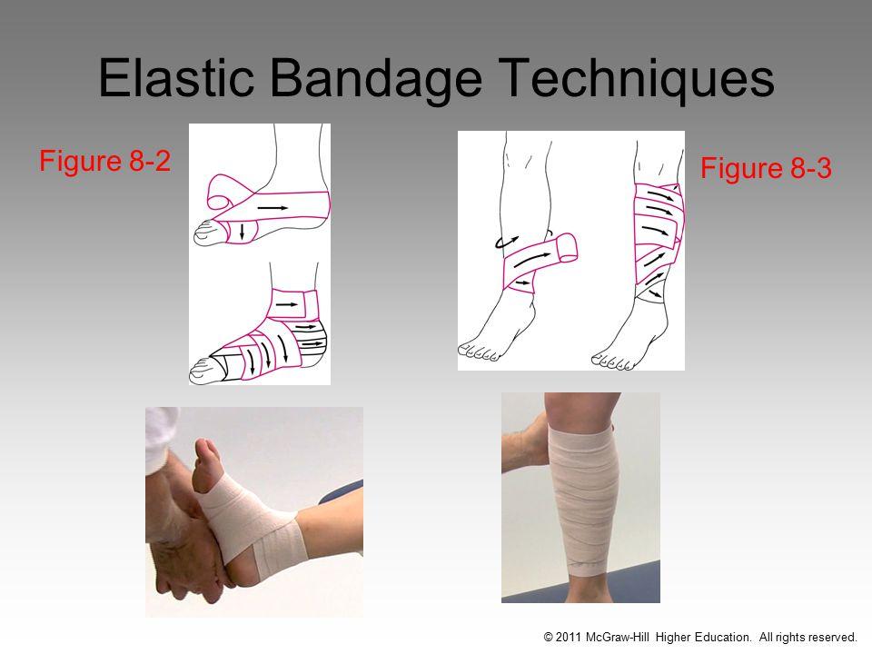 Elastic Bandage Techniques Figure 8-2 Figure 8-3 © 2011 McGraw-Hill Higher Education.