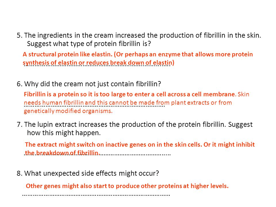 5.The ingredients in the cream increased the production of fibrillin in the skin.