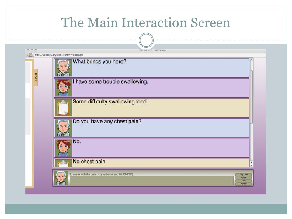 The Main Interaction Screen