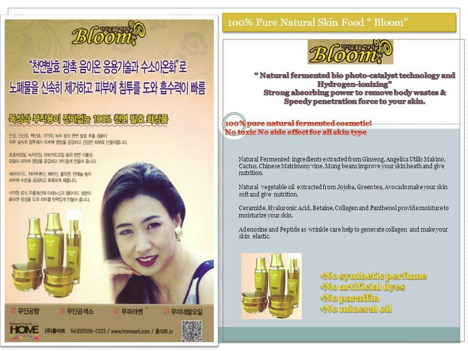 "Presentation ""100% Pure Natural Skin Food � Bloom� Natural ..."