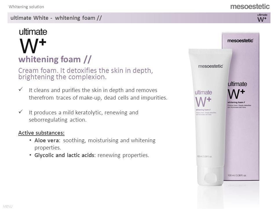 MENU Whitening solution Balancing gel.It brightens the skin from inside.