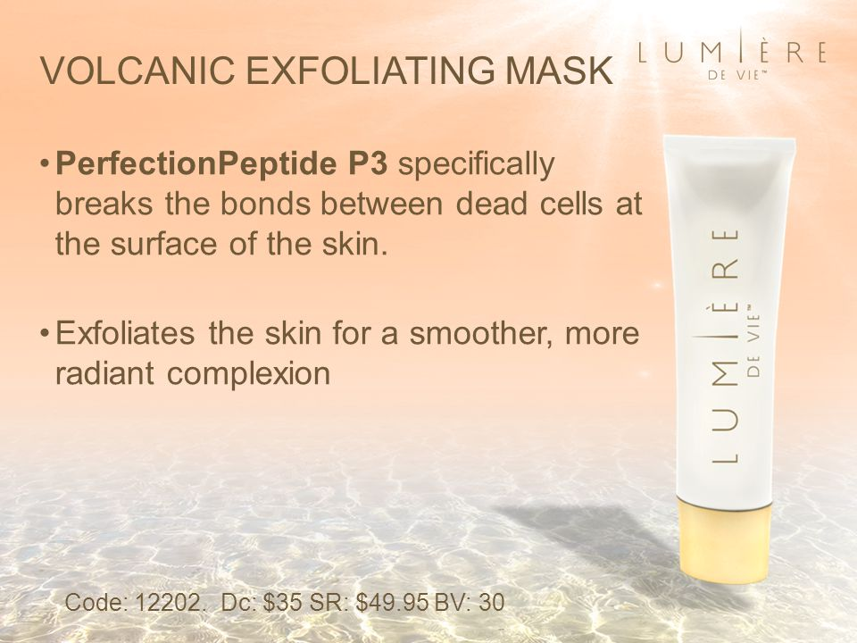 PerfectionPeptide P3 specifically breaks the bonds between dead cells at the surface of the skin.