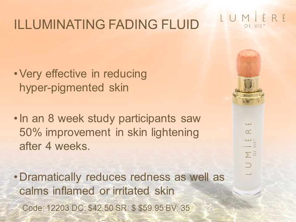 Very effective in reducing hyper-pigmented skin In an 8 week study participants saw 50% improvement in skin lightening after 4 weeks.