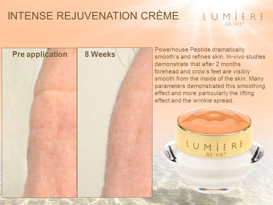 Pre application8 Weeks Powerhouse Peptide dramatically smooth's and refines skin.