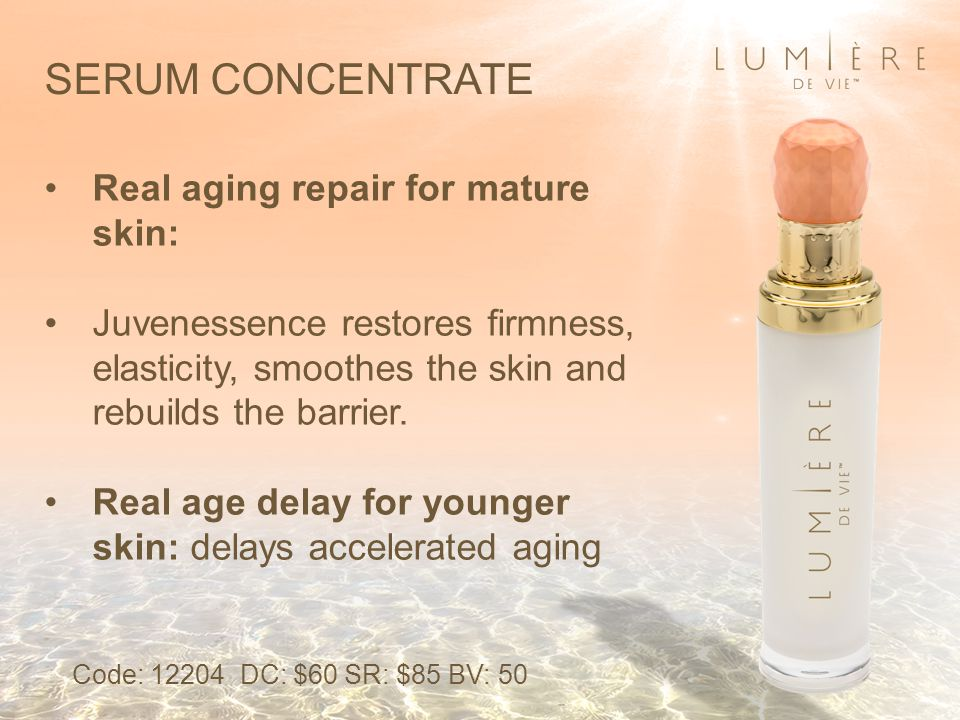 Real aging repair for mature skin: Juvenessence restores firmness, elasticity, smoothes the skin and rebuilds the barrier.