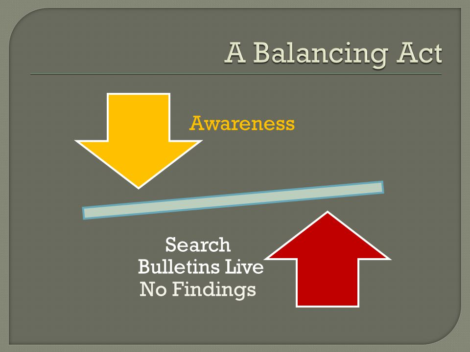 Awareness Search Bulletins Live No Findings
