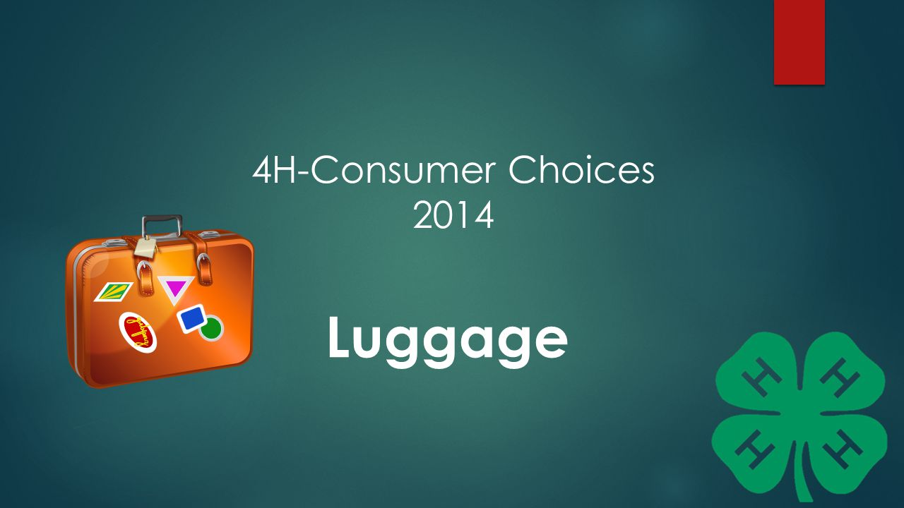 4H-Consumer Choices 2014 Luggage