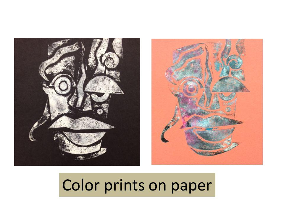 Color prints on paper