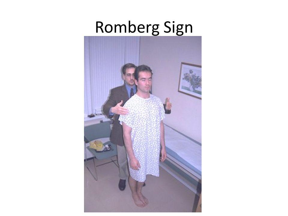 Romberg Sign