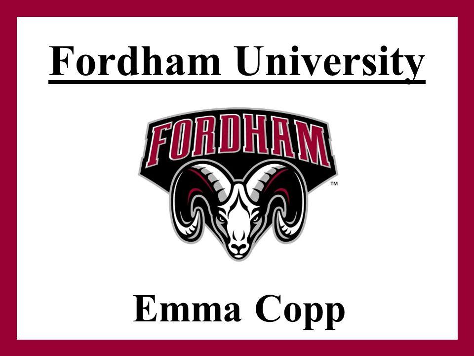 Fordham University Emma Copp