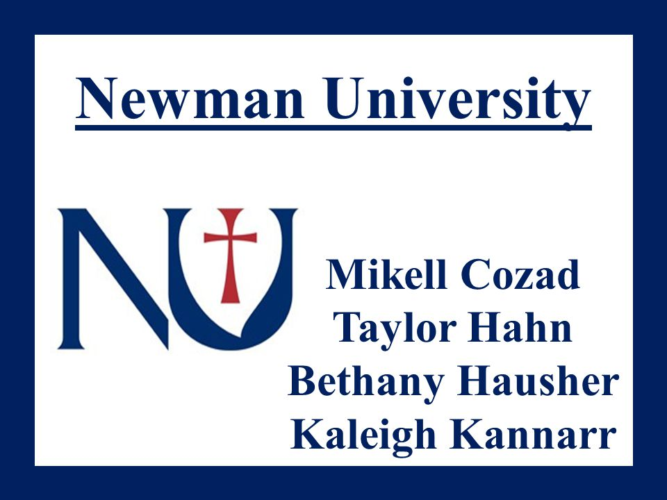Newman University Mikell Cozad Taylor Hahn Bethany Hausher Kaleigh Kannarr