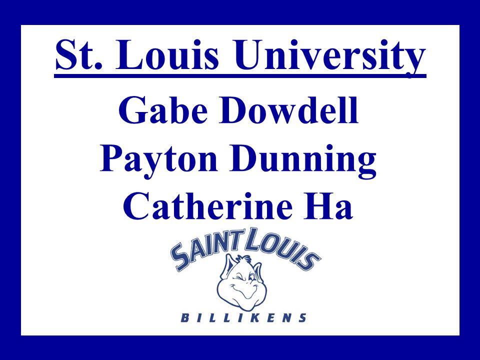 St. Louis University Gabe Dowdell Payton Dunning Catherine Ha