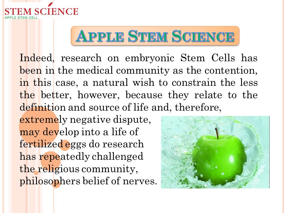 Indeed, research on embryonic Stem Cells has been in the medical community as the contention, in this case, a natural wish to constrain the less the better, however, because they relate to the definition and source of life and, therefore, extremely negative dispute, may develop into a life of fertilized eggs do research has repeatedly challenged the religious community, philosophers belief of nerves.
