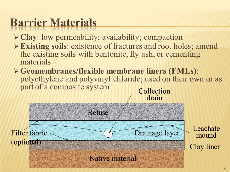 q i =rate of leachate supply rate on top of the medium overlying the geomembrane Hydraulic conductivity of the medium overlying the geomembrane 74