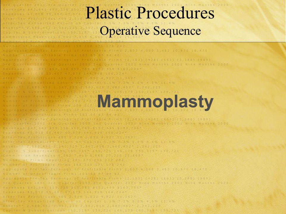 Mammoplasty Plastic Procedures Operative Sequence