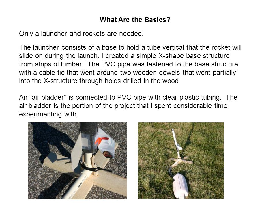 What Are the Basics. Only a launcher and rockets are needed.
