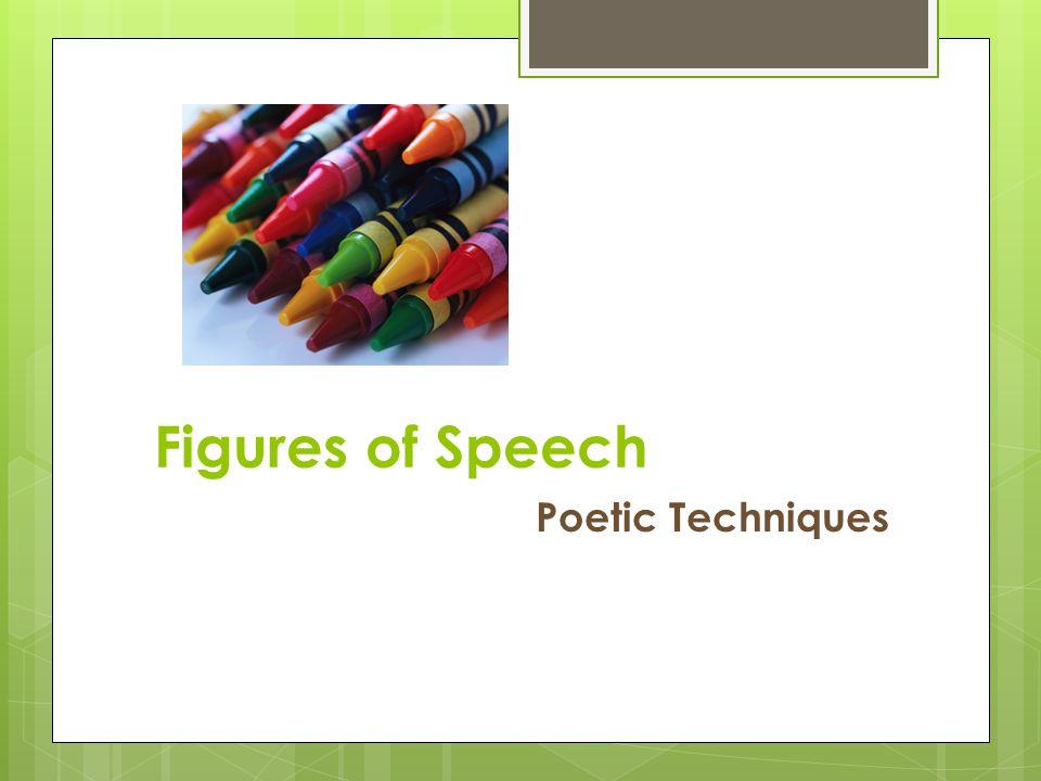 Figures of Speech Poetic Techniques