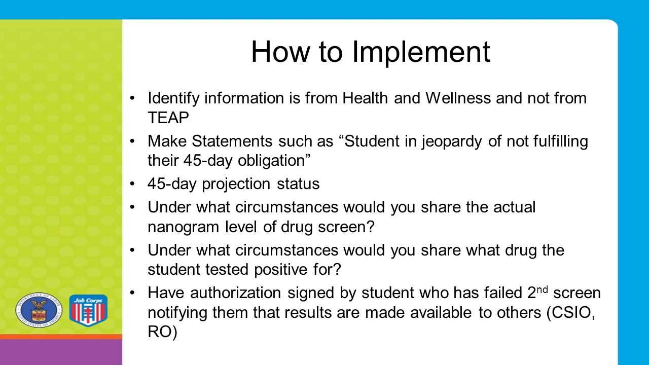 "How to Implement Identify information is from Health and Wellness and not from TEAP Make Statements such as ""Student in jeopardy of not fulfilling the"