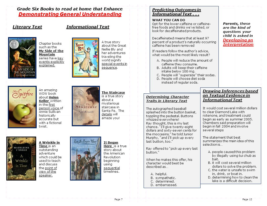 Page 11 Page 8 STRAND 3 When I read to locate information I can…  look at Titles and Chapter Headings.