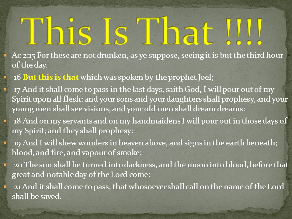Vs 23--- death of Jesus Vs 24,31--- Resurrection Ac 2:36 Therefore let all the house of Israel know assuredly, that God hath made that same Jesus, whom ye have crucified, both Lord and Christ.