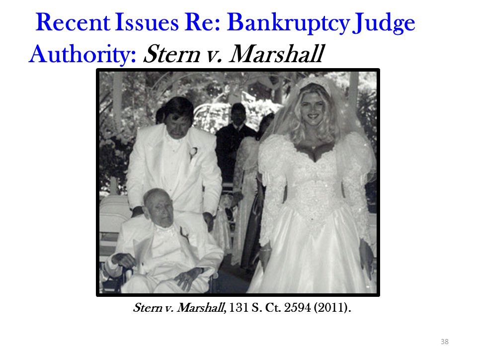 38 Recent Issues Re: Bankruptcy Judge Authority: Stern v.