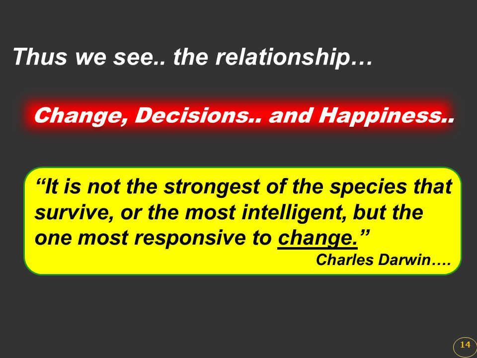 """""""It is not the strongest of the species that survive, or the most intelligent, but the one most responsive to change."""" Charles Darwin…. Thus we see.."""