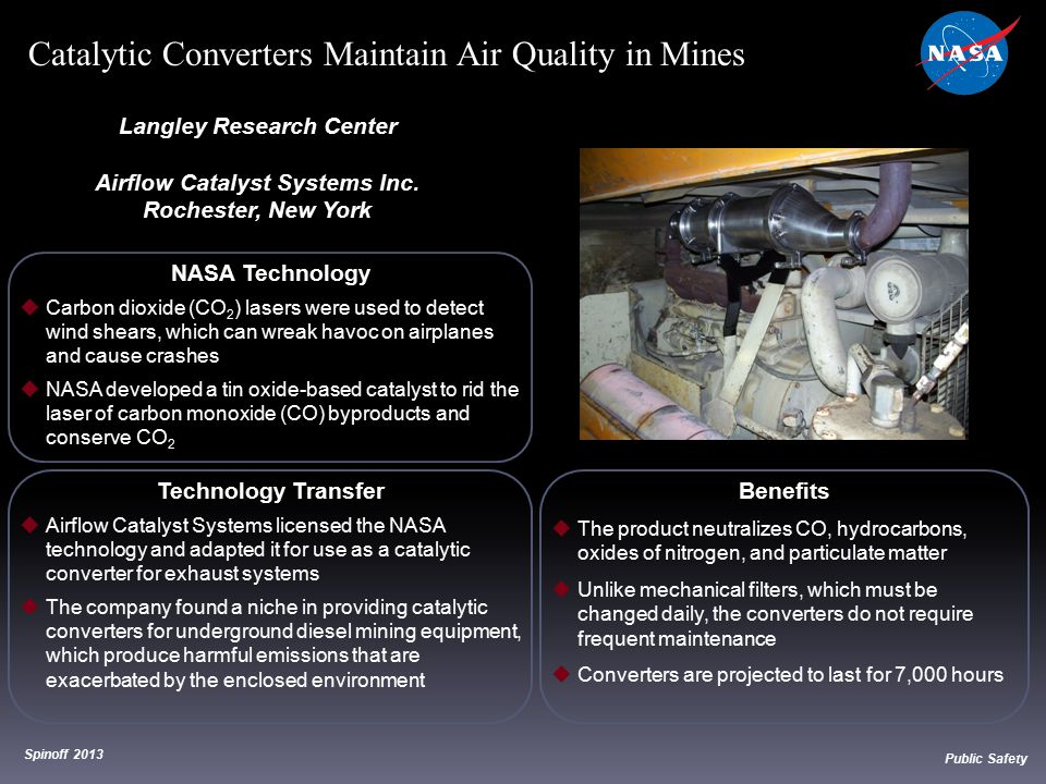 NASA Technology  Carbon dioxide (CO 2 ) lasers were used to detect wind shears, which can wreak havoc on airplanes and cause crashes  NASA developed