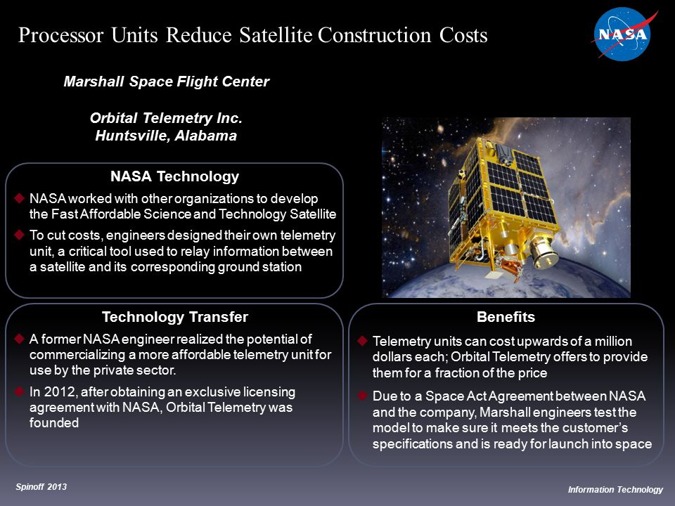NASA Technology  NASA worked with other organizations to develop the Fast Affordable Science and Technology Satellite  To cut costs, engineers desig