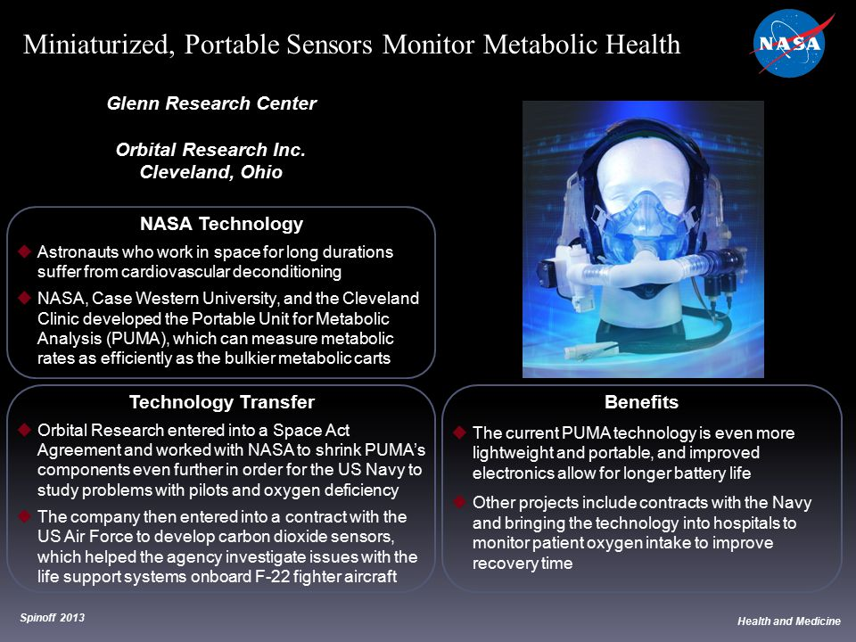 NASA Technology  Astronauts who work in space for long durations suffer from cardiovascular deconditioning  NASA, Case Western University, and the C