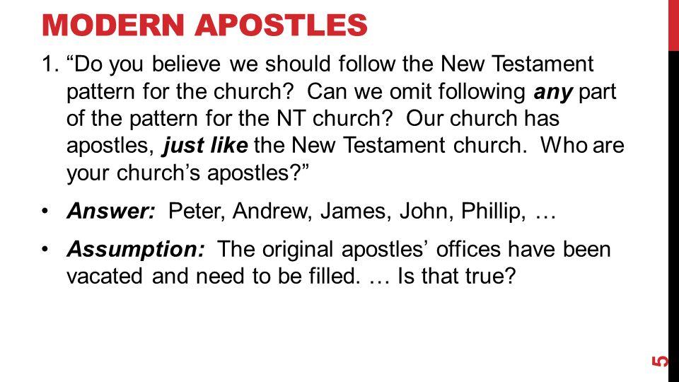 … STILL REIGNING AS APOSTLES.