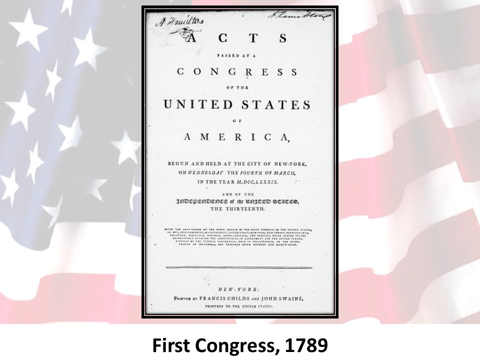 First Congress, 1789
