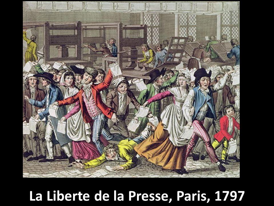 La Liberte de la Presse, Paris, 1797
