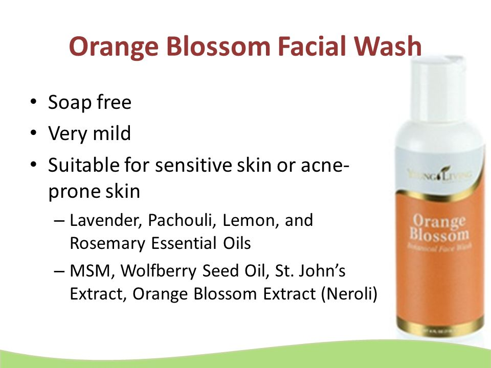 Orange Blossom Facial Wash Soap free Very mild Suitable for sensitive skin or acne- prone skin – Lavender, Pachouli, Lemon, and Rosemary Essential Oil