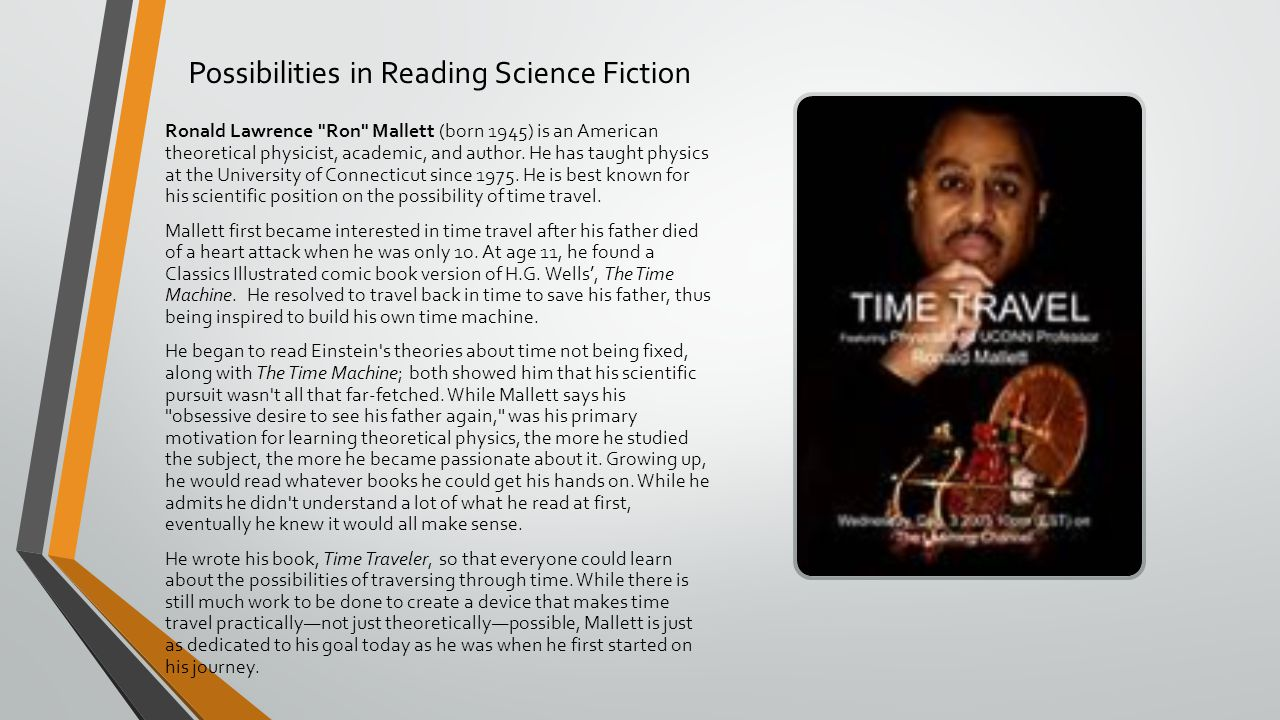Possibilities in Reading Science Fiction Ronald Lawrence