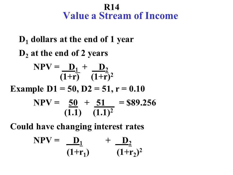 R11 Discounting with Compounding p Times a Year B dollars in t years at interest rate 10% is worth .