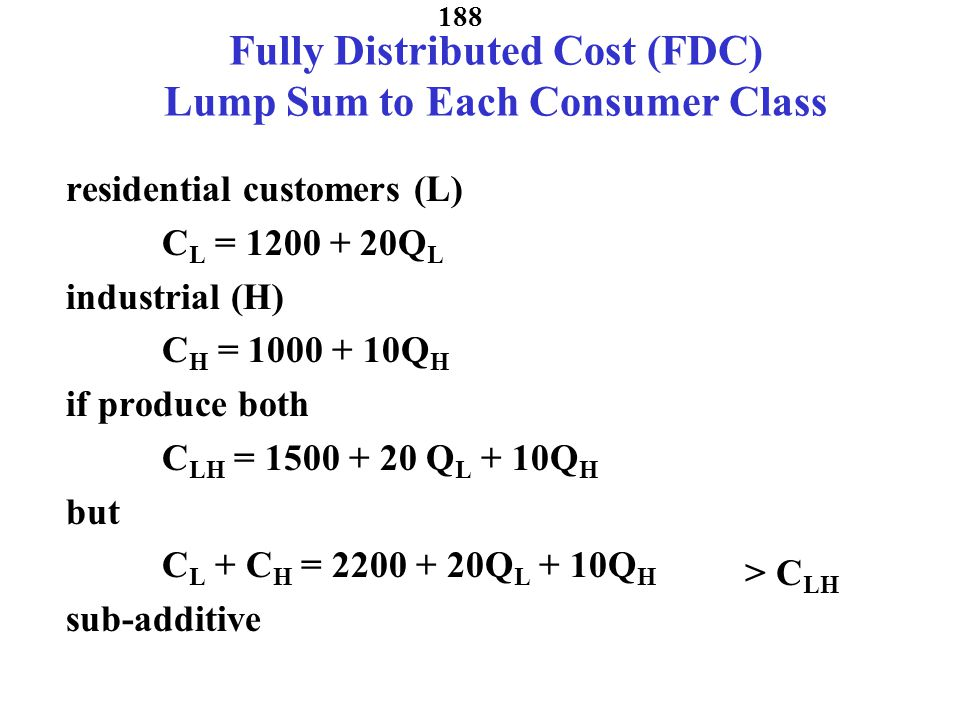 187 If charge one price: P=2.5 See if you can figure out losses P Q Q pk Q opk C o = 2 C o +C k =5 Q pk Q opk Q opk Q pk P=2.5 Losses in Peak Losses in Off Peak Peak Load Price if Losses Greater than Metering Cost