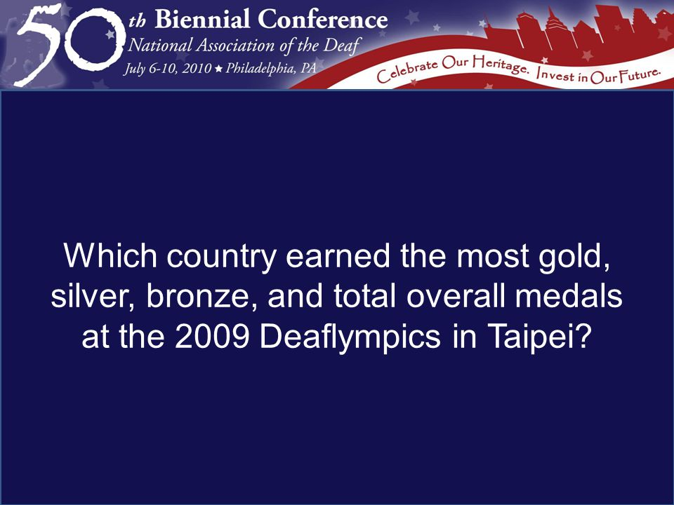 Which country earned the most gold, silver, bronze, and total overall medals at the 2009 Deaflympics in Taipei