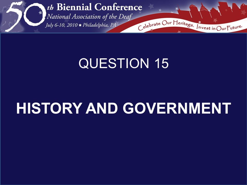 HISTORY AND GOVERNMENT QUESTION 15