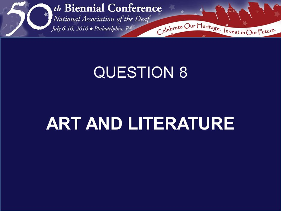 ART AND LITERATURE QUESTION 8