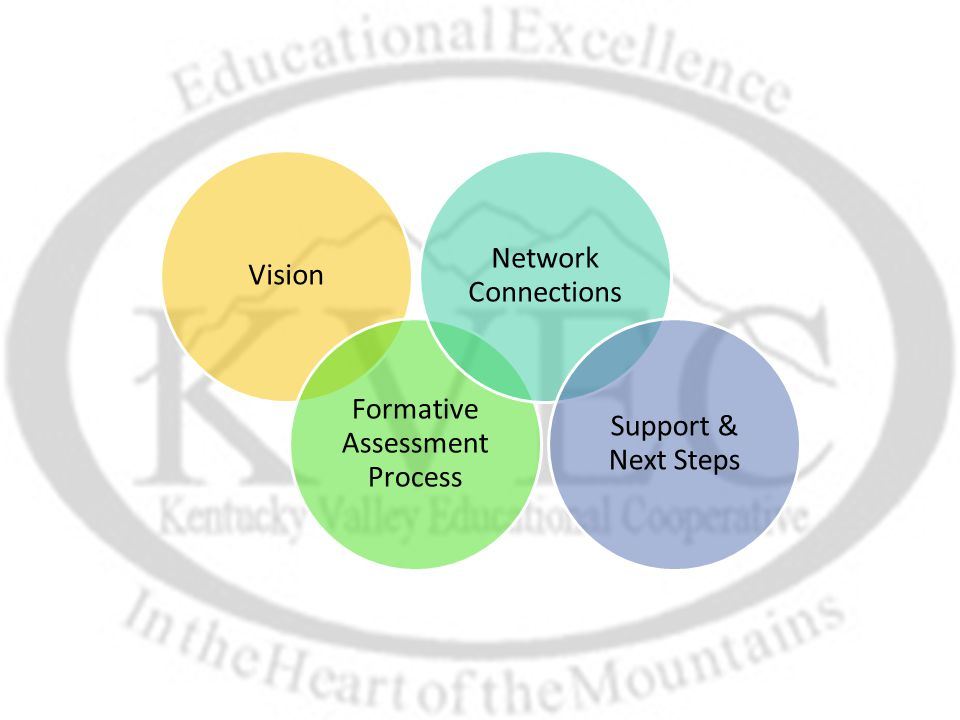 Vision Formative Assessment Process Network Connections Support & Next Steps