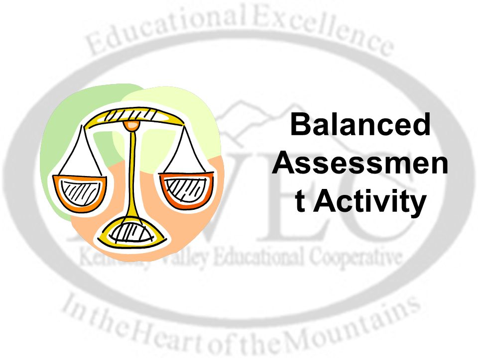 Balanced Assessmen t Activity
