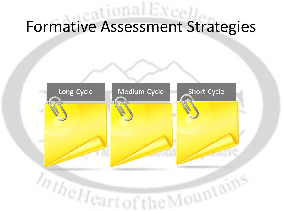 Formative Assessment Strategies Long-CycleMedium-CycleShort-Cycle
