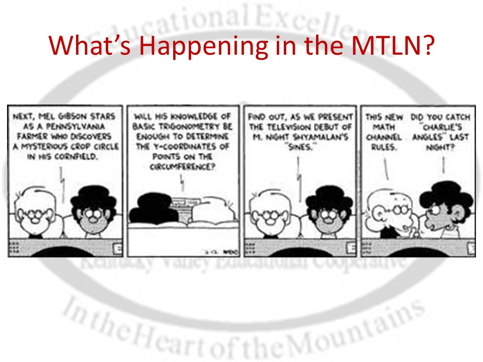 What's Happening in the MTLN?