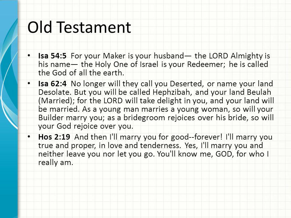 Jesus speaks of himself as the bridegroom.
