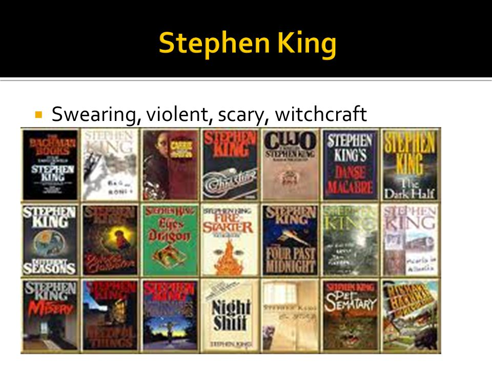  Swearing, violent, scary, witchcraft