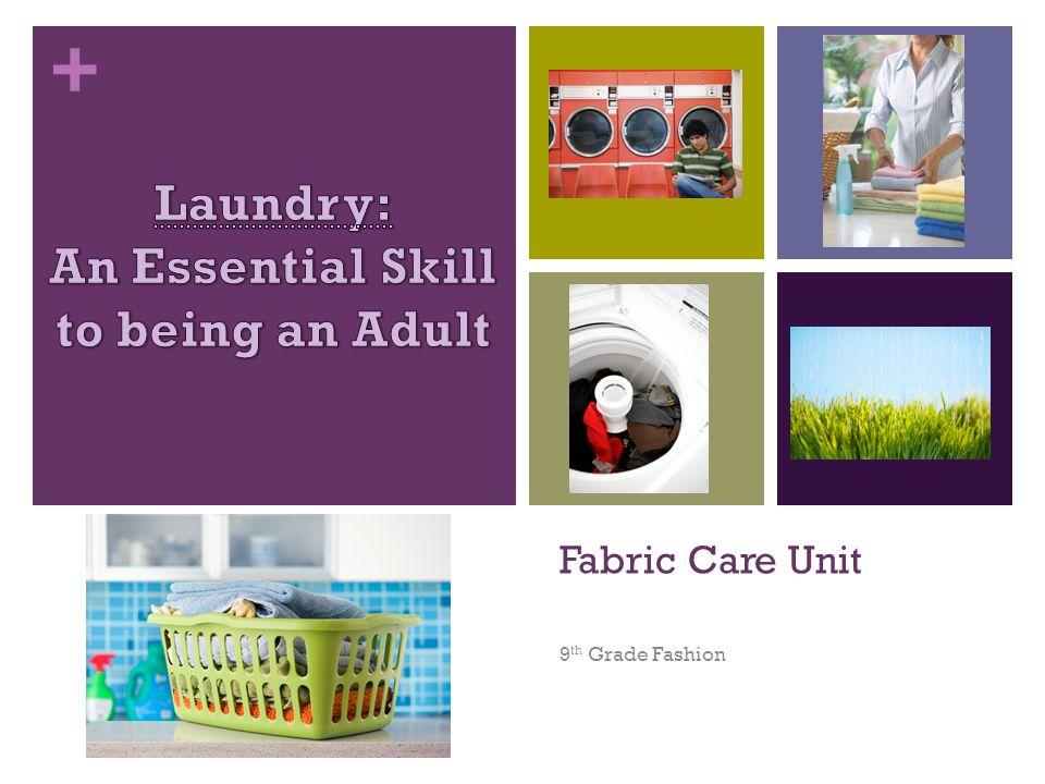 + Fabric Care Unit 9 th Grade Fashion