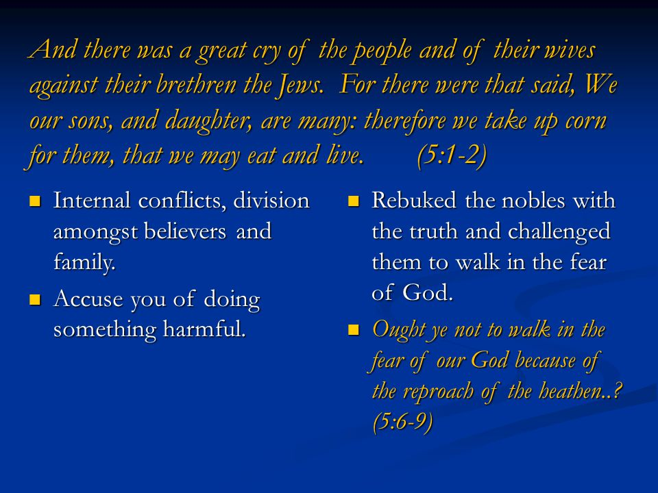 And there was a great cry of the people and of their wives against their brethren the Jews.